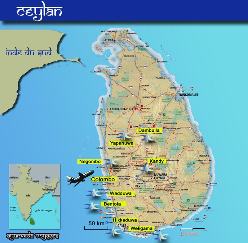 Carte Bancaire Sri Lanka.Ayurveda Voyages Centres Ayurvediques Ceylan